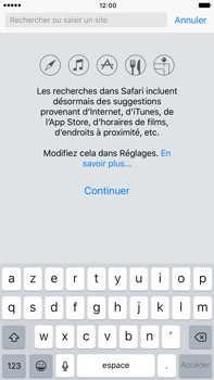 Apple Apple iPhone 6 Plus iOS 10 - Internet - navigation sur Internet - Étape 3