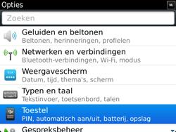 BlackBerry 9900 Bold Touch - Instellingen - configuratiebericht ontvangen - Stap 4