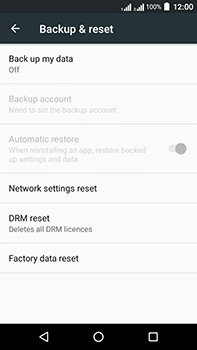 Acer Liquid Zest 4G Plus DualSim - Device - Factory reset - Step 6