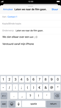 Apple iPhone 6 Plus - iOS 11 - e-mail - hoe te versturen - stap 8