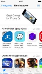 Apple iPhone 5s iOS 8 - Aplicações - Como pesquisar e instalar aplicações -  5