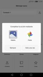Huawei P9 - Mensajería - Escribir y enviar un mensaje multimedia - Paso 14