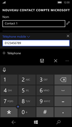 Microsoft Lumia 950 - Contact, Appels, SMS/MMS - Ajouter un contact - Étape 6