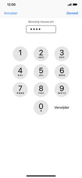 Apple iPhone XS Max - Beveiliging - pas de pincode voor je simkaart aan - Stap 11