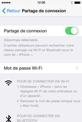 Apple iPhone 4S (iOS 8) - Internet et connexion - Partager votre connexion en Wi-Fi - Étape 7