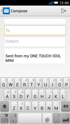 Alcatel OT-6012X Idol Mini - Email - Sending an email message - Step 5