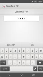Sony Xperia E4 - Segurança - Como ativar o código de bloqueio do ecrã -  10