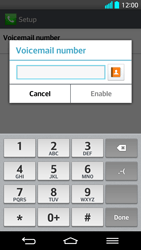 LG G2 - Voicemail - Manual configuration - Step 8