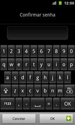 Samsung Galaxy S II - Segurança - Como ativar e desativar um código para bloqueio de tela do seu celular - Etapa 10