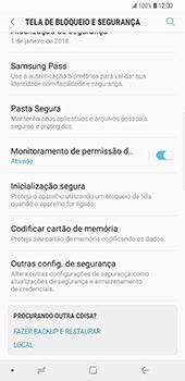 Samsung Galaxy S9 Plus - Segurança - Como ativar o código PIN do cartão de telemóvel -  5