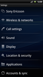 Sony Ericsson Xperia Arc S - Network - Usage across the border - Step 4