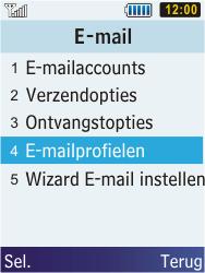Samsung C3350 Xcover 2 - E-mail - e-mail instellen: POP3 - Stap 6