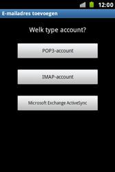 Samsung S7500 Galaxy Ace Plus - E-mail - e-mail instellen: IMAP (aanbevolen) - Stap 6