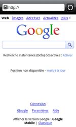 HTC A7272 Desire Z - Internet - Navigation sur internet - Étape 4