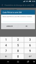 HTC One A9 - Sécuriser votre mobile - Personnaliser le code PIN de votre carte SIM - Étape 7