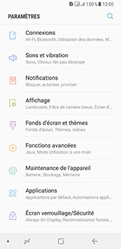 Samsung Galaxy A8 (2018) - Wifi - configuration manuelle - Étape 3