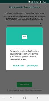 Samsung Galaxy A8 (2018) - Aplicações - Como configurar o WhatsApp -  11