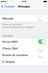 Apple iPhone 4 S iOS 7 - Mms - Configuration manuelle - Étape 12
