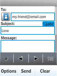 Nokia X3-02 - E-mail - Sending emails - Step 9
