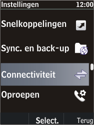 Nokia C2-05 - Bluetooth - headset, carkit verbinding - Stap 4