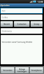 Samsung I5800 Galaxy Apollo - E-mail - e-mail versturen - Stap 4