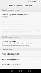 Huawei P9 - Repor definições - Como repor definições de fábrica do telemóvel -  7