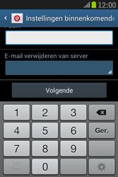 Samsung S6310 Galaxy Young - E-mail - Handmatig instellen - Stap 12