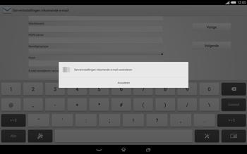 Sony Xperia Tablet Z2 (SGP521) - E-mail - e-mail instellen: POP3 - Stap 11