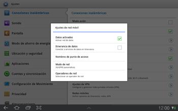 Samsung P7500 Galaxy Tab 10-1 - Internet - Ver uso de datos - Paso 6