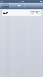 Apple iPhone iOS 6 - Wi-Fi - Como configurar uma rede wi fi - Etapa 4