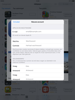 Apple iPad Mini 4 - Applicaties - Account aanmaken - Stap 11