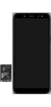 Samsung Galaxy A6 - Appareil - comment insérer une carte SIM - Étape 8
