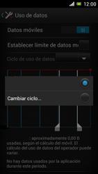 Sony Xperia J - Internet - Ver uso de datos - Paso 6