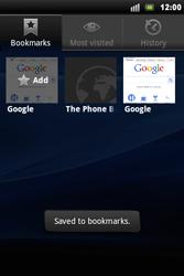 Sony Ericsson Xperia Mini Pro - Internet - Internet browsing - Step 9