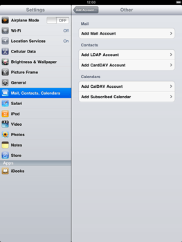 Apple iPad 2 - Email - Manual configuration - Step 5