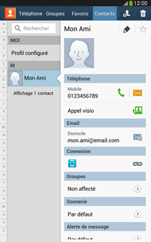 Samsung Galaxy Tab 3 8 4G - Contact, Appels, SMS/MMS - Utiliser la visio - Étape 4