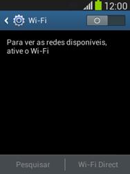 Samsung S5310B Galaxy Pocket Neo - Wi-Fi - Como configurar uma rede wi fi - Etapa 5