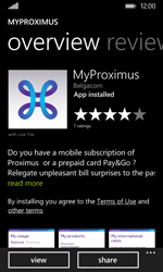 Nokia Lumia 530 - Applications - MyProximus - Step 9