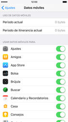 Apple iPhone 6s iOS 10 - Internet - Ver uso de datos - Paso 4