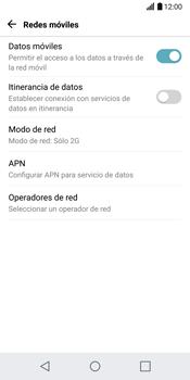 LG G6 - Red - Seleccionar el tipo de red - Paso 7