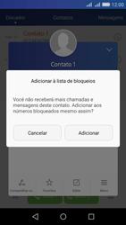 Huawei Y6 - Chamadas - Como bloquear chamadas de um número específico - Etapa 6