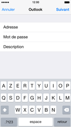Apple iPhone 5 iOS 7 - E-mail - Configuration manuelle (outlook) - Étape 7