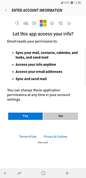 Samsung Galaxy Note 8 - E-mail - Manual configuration (outlook) - Step 7
