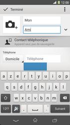 Sony Xpéria Z1 - Contact, Appels, SMS/MMS - Ajouter un contact - Étape 8