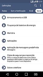 LG K8 - Funções básicas - Como restaurar as configurações originais do seu aparelho - Etapa 5