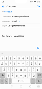 Huawei P20 Lite - E-mail - Sending emails - Step 8