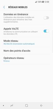 Samsung Galaxy S8 - Android Oreo - Réseau - Activer 4G/LTE - Étape 8