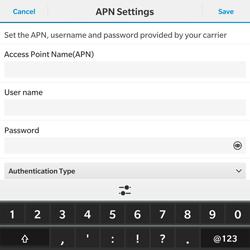 BlackBerry Passport - Internet - Manual configuration - Step 9