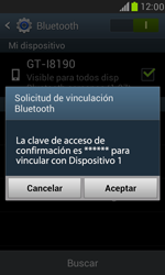 Samsung Galaxy S3 Mini - Bluetooth - Conectar dispositivos a través de Bluetooth - Paso 7