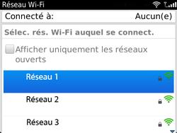 BlackBerry 9720 - Internet et connexion - Accéder au réseau Wi-Fi - Étape 7